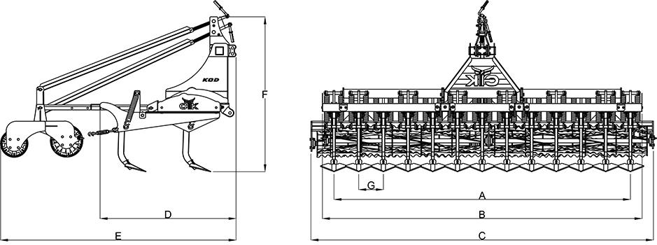 CTK Tarım KOD Serisi — Dikey Yaylı Orta Tip Kültivatör adlı ürün görseli 186
