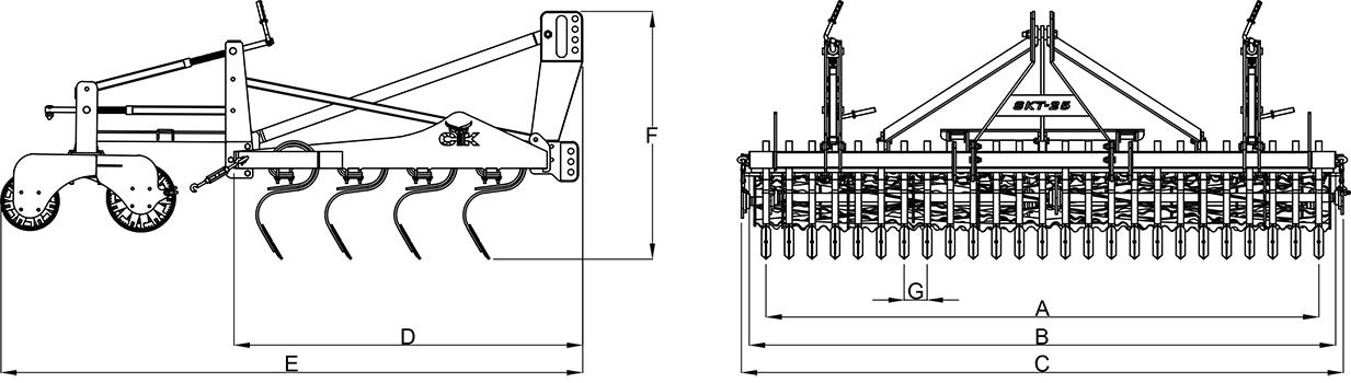 CTK Tarım STK Serisi — S Bacak Kültivatör adlı ürün görseli 173
